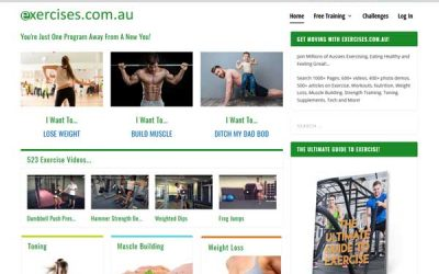 Project Site Launch – exercises.com.au
